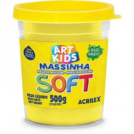 MASSA MODELAR 500 GRS AMARELO REF 102 ACRILEX