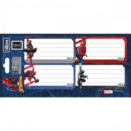 ETIQUETA ESCOLAR SPIDERMAN PT08 REF 234559