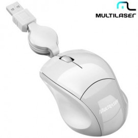 MOUSE USB RETRATIL MO155 BRANCO FIT MULTILASER