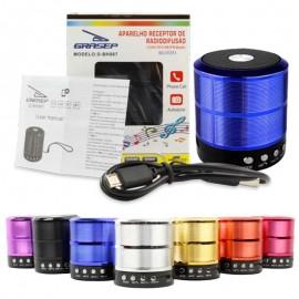 CAIXA DE SOM 5W BLUETOOTH/RADIO FM/ENTRADA USB E SD REF D-BH887