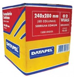 FORMULARIO CONTINUO 2 VIAS 80 COLUNAS DATAPEL CX1500 JG