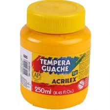 TINTA GUACHE 250ML AMARELO REF 505