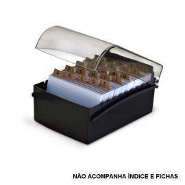 FICHARIO 6X9 PLASTICO PRETO REF 10350003