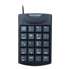 TECLADO USB NUMERICO TC229 PRETO MULTILASER