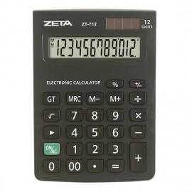 CALCULADORA 12 DIGITOS ZT712 10.5X14.7 CM SOLAR E BATERIA