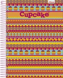 CADERNETA ESP. 1/8 C/D 96FLS CUP CAKE
