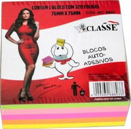 BLOCO ADESIVO 76X76 CUBO 5 CORES 320FLS REF MC 8803 CLASSE