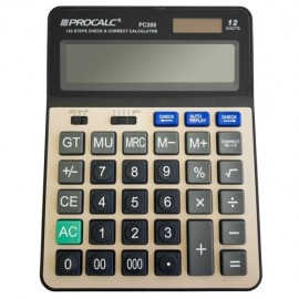 CALCULADORA 12 DIGITOS PC289 SOLAR E PILHA 15.5X21 CM