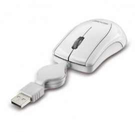 MOUSE USB RETRATIL MO162 BRANCO MINI MULTILASER