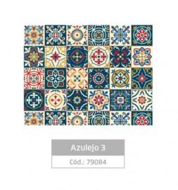 PLASTICO ADESIVO  FANTASIA AZULEJO 03 REF 79084