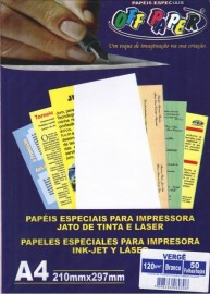 PAPEL ESPECIAL VERGE 120GR BRANCO PT50 OFF PAPER