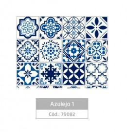 PLASTICO ADESIVO  FANTASIA AZULEJO 01 REF 79082