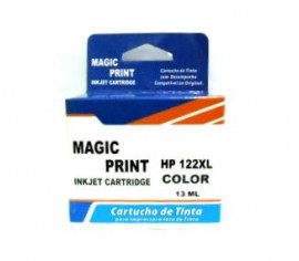 CARTUCHO HP 122XL COMPATIVEL COLORIDO 13ML