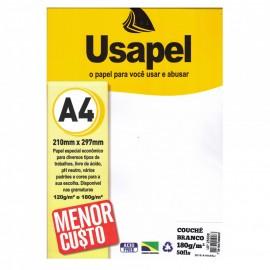 PAPEL ESPECIAL COUCHE 170/180GR BRANCO PT50