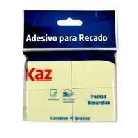 BLOCO ADESIVO 38X50 AMARELO PT04 KAZ REF KZ2005A