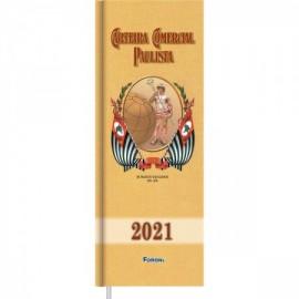 AGENDA 2021 PAULISTA 13X36 CM 192 FLS REF 507621-7