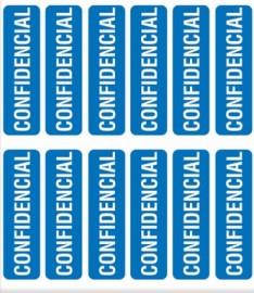 ETIQUETA CONFIDENCIAL 12X44 PT60