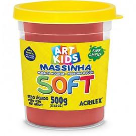 MASSA MODELAR 500 GRS VERMELHO REF 103 ACRILEX