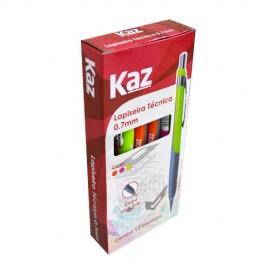 LAPISEIRA 0.7 TECNICA KZ1580 VERDE/ROSA/LARANJA KAZ
