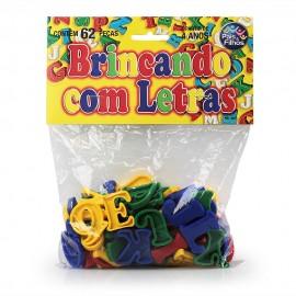 BRINCANDO COM LETRAS C/62 PCS REF 4744 BRINQUEDO