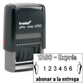 CARIMBO  NUMERADOR AUTOMATICO 4,1 X 2,4 COD 4750