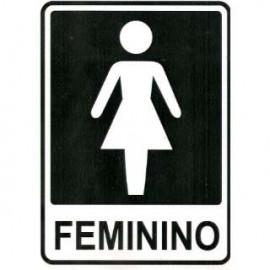 PLACA SINALIZACAO 14,5X19,5 CM FEMININO