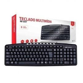 TECLADO USB MULTIMIDIA PRETO REF KB-2237