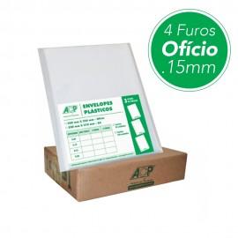 ENVELOPE PLASTICO 4 FUROS GROSSO PT100 0.15