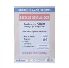 QUADRO MULTIUSO A4 CRISTAL POLIBRAS