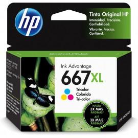 CARTUCHO HP 667XL 3YM80AL COLORIDO 8 ML