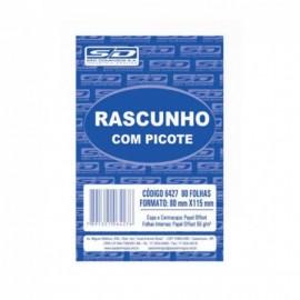 BLOCO RASCUNHO 80X115MM 80FLS SERRILHADO E GRAMPEADO SD COD 6427-9