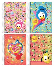 CADERNO UNIVERSITARIO 1X1 CAPA DURA 96FLS DISNEY FRUITS