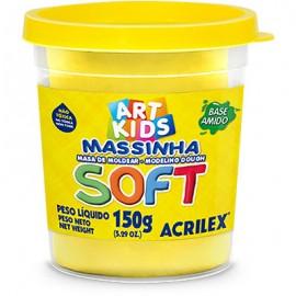 MASSA MODELAR 150 GRS AMARELO REF 102 ACRILEX
