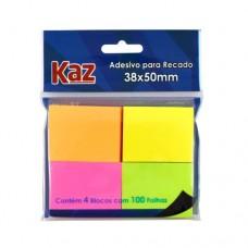 BLOCO ADESIVO 38X50 NEON PT04 KAZ REF KZ2005N