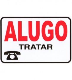 PLACA SINALIZACAO 30X20 CM ALUGO
