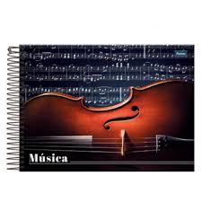 CADERNO MUSICA ESPIRAL 1/4 CAPA DURA TRANSVERSAL 96FLS REF 318996-0