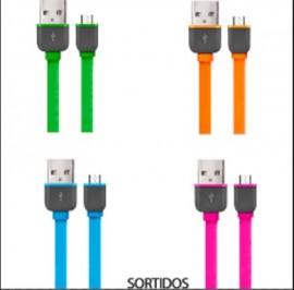 CABO USB X MICRO USB WI298 SORTIDO