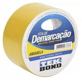 FITA ADESIVA DEMARCACAO SOLO AMARELA 48MM X 15 METROS