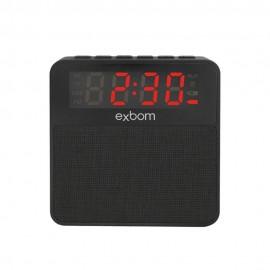 CAIXA DE SOM 3W C/ RELOGIO DESPERTADOR REF CS-MT3BT BLUETOOTH/RADIO FM/ ENTRADA USB/CARTAO SD