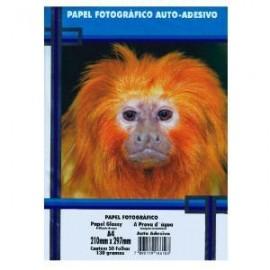 PAPEL FOTO GLOSSY PAPER ADESIVADO 130GRS PT50 FLS