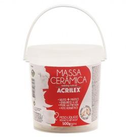 MASSA CERAMICA 500G ACRILEX