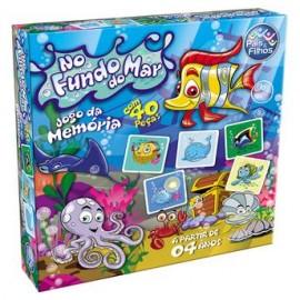 JOGO DA MEMORIA FUNDO DO MAR C/40 PCS REF 7362  BRINQUEDO