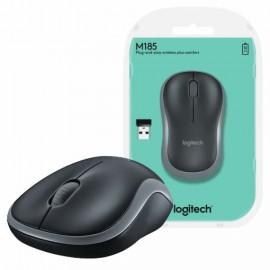 MOUSE USB SEM FIO M185 OPTICO CINZA