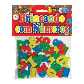 BRINCANDO COM OS NUMEROS C/56 PCS REF 4743 BRINQUEDO