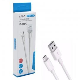 CABO USB X USB-C 2.4A 1 MT REF LE-110C