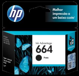 CARTUCHO HP 664 F6V29AB PRETO 2 ML