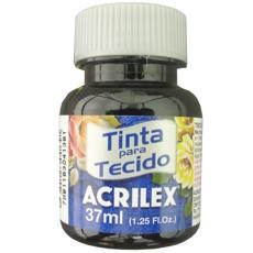 TINTA TECIDO FOSCO PRETO 37ML REF 520