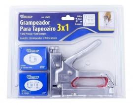 GRAMPEADOR TAPECEIRO 3 EM 1 C/150 GRAMPOS REF 7610