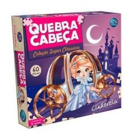 QUEBRA CABEÇA CINDERELA 60 PEÇAS REF 2852 BRINQUEDO