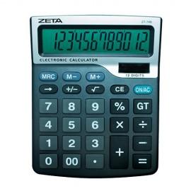 CALCULADORA 12 DIGITOS ZT745 19.5X15.5 CM SOLAR E BATERIA